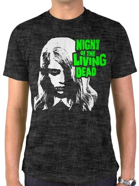Night of the Living Dead Zombie Girl Vintage Heather T-Shirt