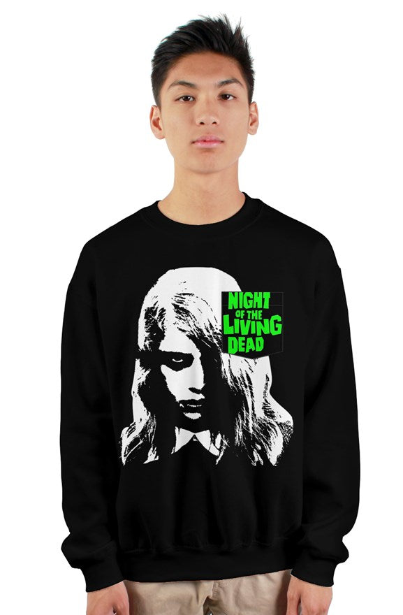 Night of the Living Dead Zombie Girl Old School Pocket Sweatshirt
