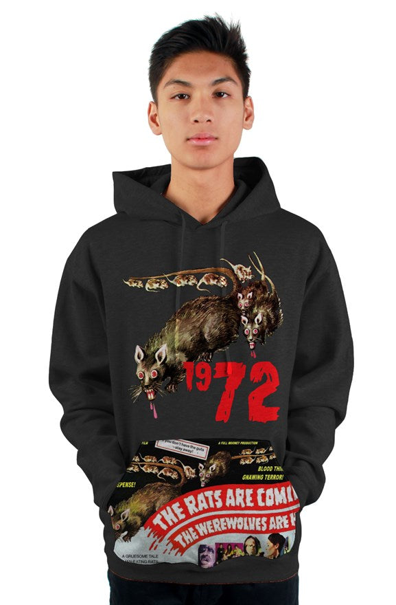 The Rats Are Coming! The Werewolves Are Here! 1972 Vintage Pullover Hoody