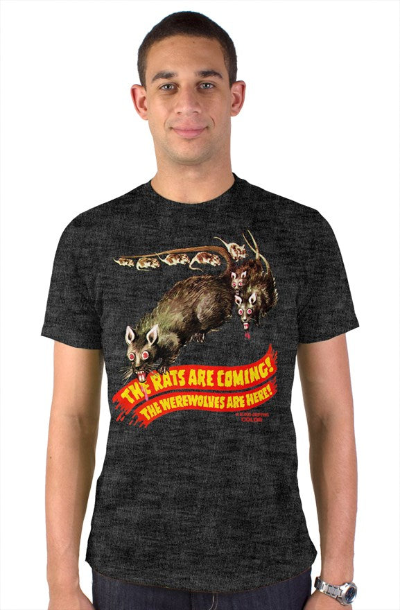 The Rats Are Coming! The Werewolves Are Here! Vintage Heather Blend T-Shirt