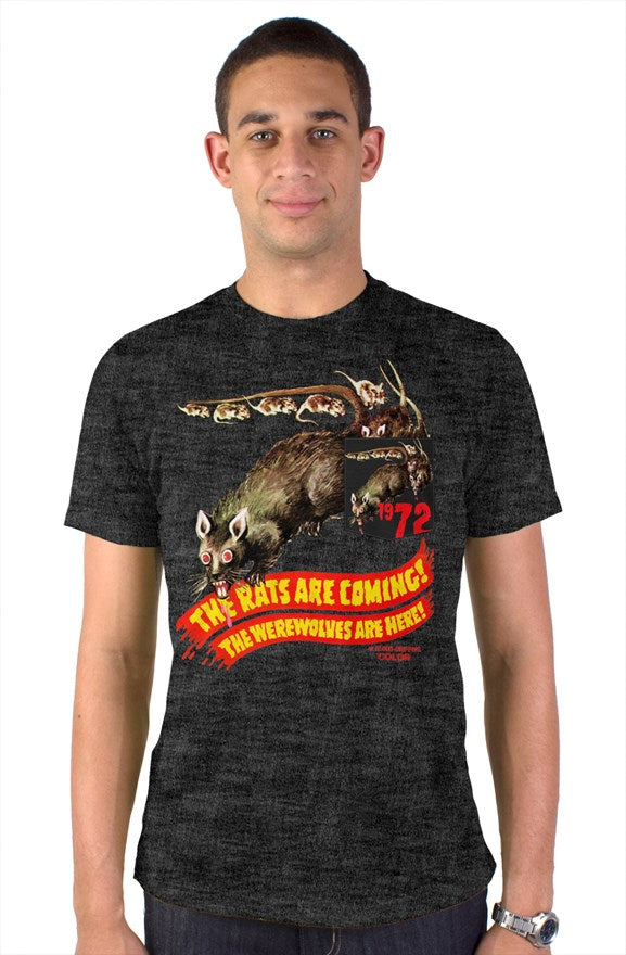 The Rats Are Coming! The Werewolves Are Here! Vintage Heather Blend Pocket T-Shirt