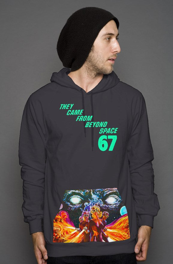 They Came From Beyond Space Custom Pocket Pullover Hoody
