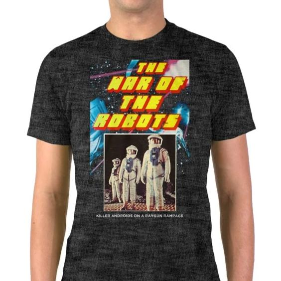 The War of the Robots Vintage Heather Blend T-Shirt