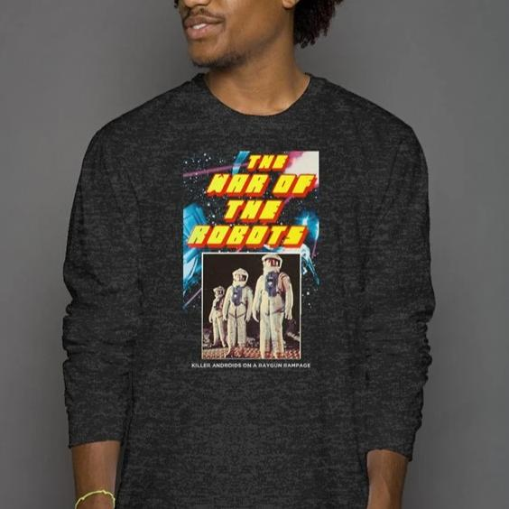 The War of the Robots Vintage Heather Blend Long Sleeve T-Shirt