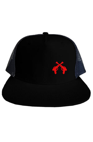 RAYGUN Double Guns Embroidery Trucker Mesh Hat