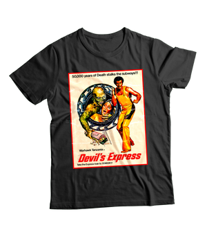 RAYGUN Devil's Express Vintage Heather Blend Charcoal T-Shirt