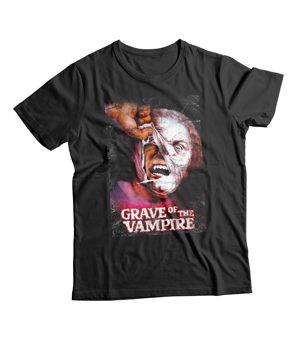 RAYGUN Grave of the Vampire Vintage Heather Blend Charcoal T-Shirt