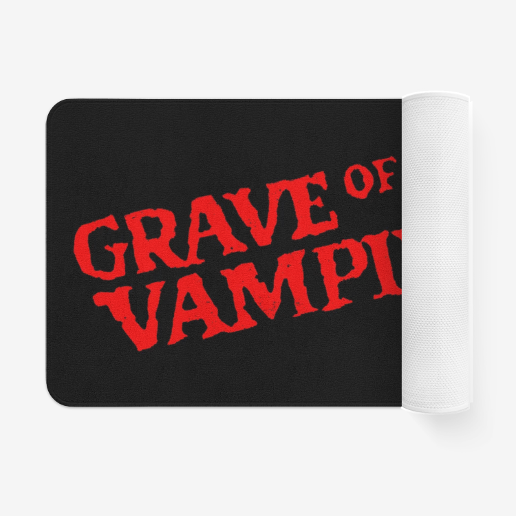 Grave of the Vampire Microfiber Chevron Non-Slip Soft Rug Doormat