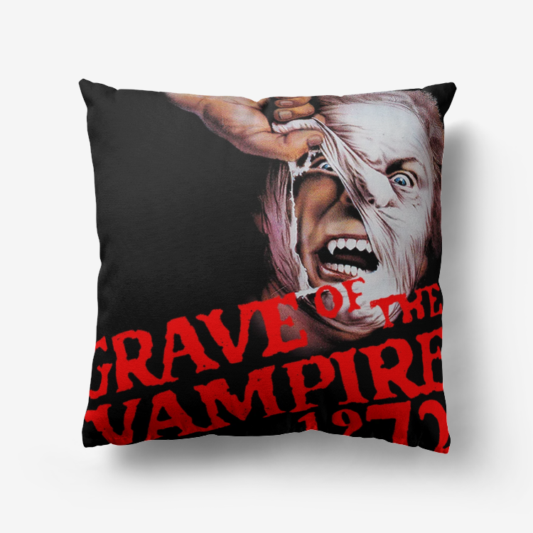 Grave of the Vampire 1972 Premium Hypoallergenic Throw Pillow