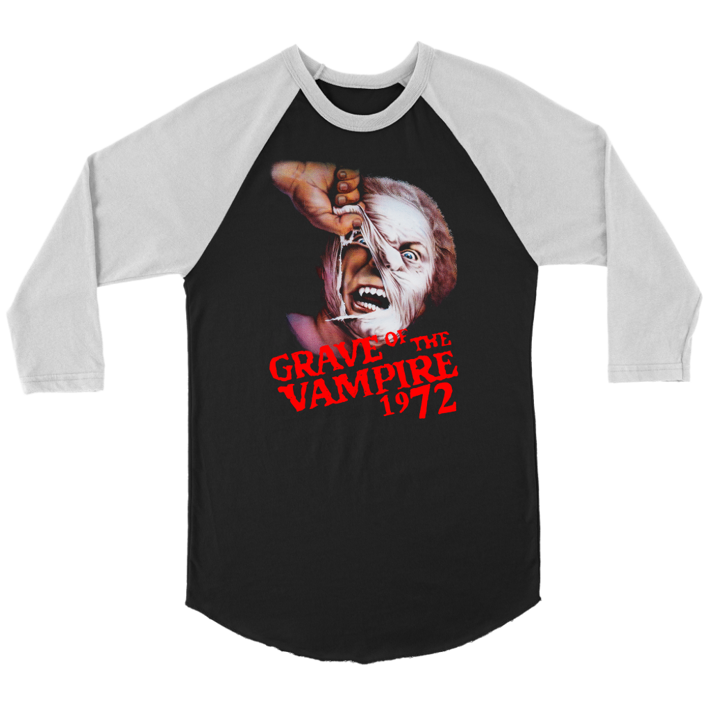 Unisex Grave of the Vampire 1972 Vintage Raglan