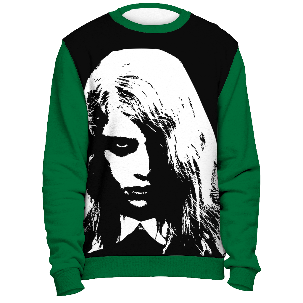 Night of the Living Dead Zombie Girl Ugly Christmas Sweatshirt Sweater