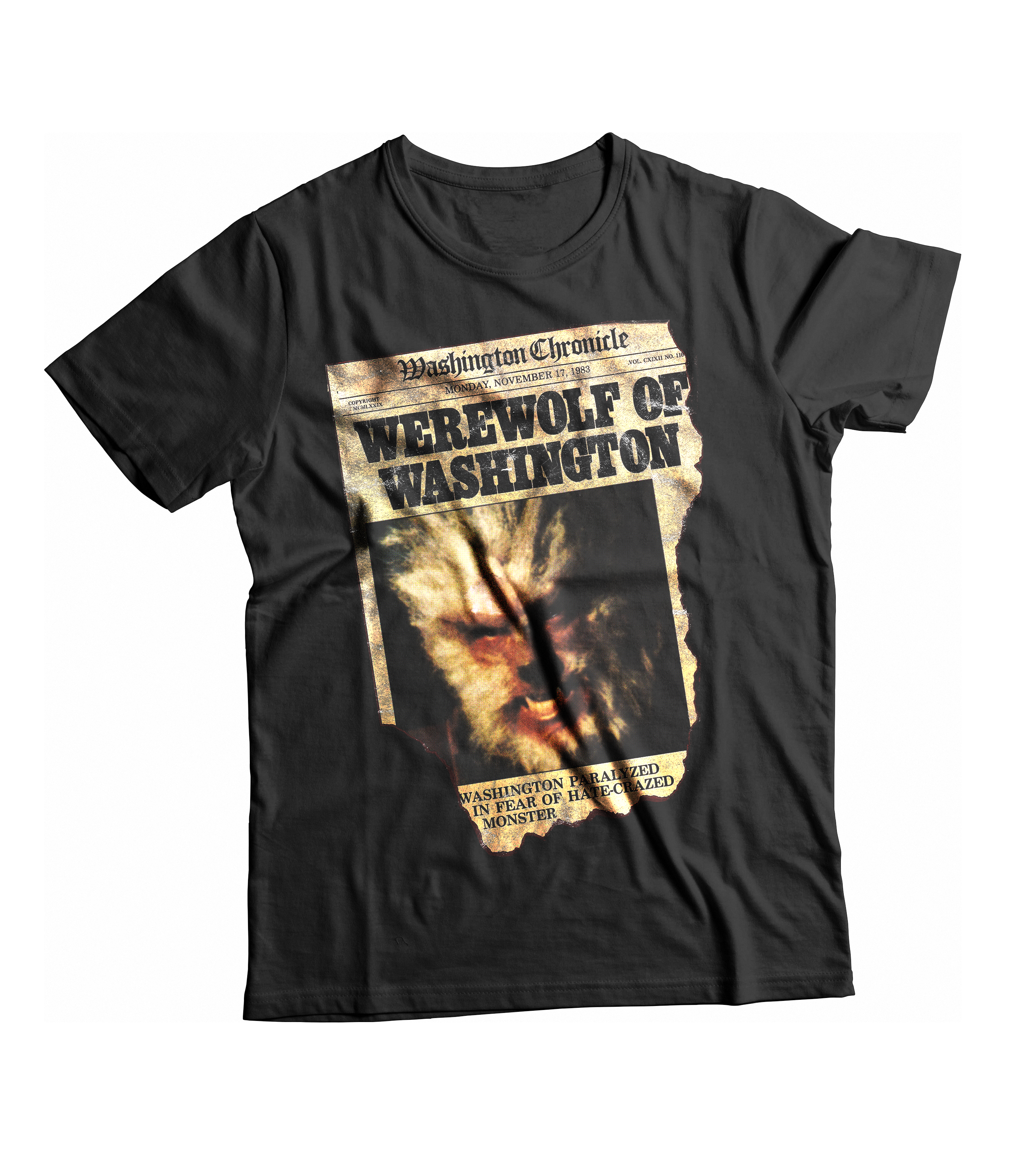 RAYGUN Werewolf of Washington Vintage Heather Blend Charcoal T-Shirt
