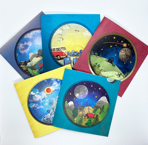 'The Adventure' Greeting Card Bundle - x5 Designs