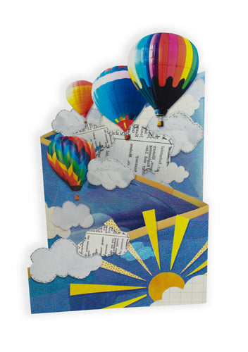 'Hot Air Balloons' Blank Greeting Card