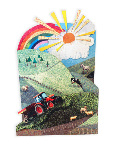 'Busy Farm' - Luxury Greeting Card