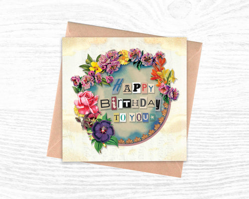 'Happy Birthday To You' - Luxury Greeting Card