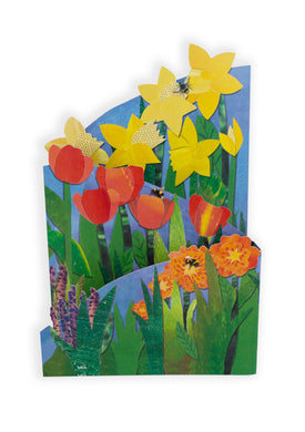 'Spring Flowers' Luxury Greeting Card