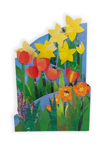 'Spring Flowers' Blank Greeting Card