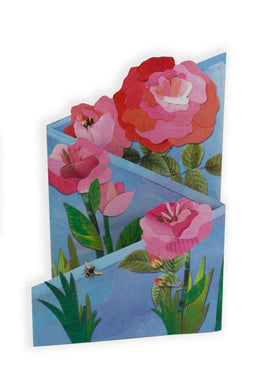 'English Roses' Luxury Greeting Card