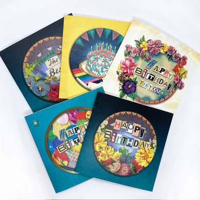 The Happy Birthday Greeting Card Bundle - x5 Designs