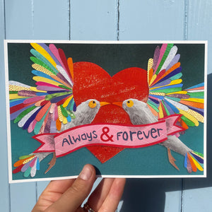 'Always & Forever' Art Print