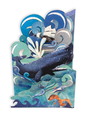 'Jonah's Whale' - Luxury Greeting Card