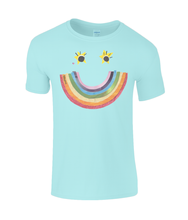 Load image into Gallery viewer, Big Rainbow Smile #1 - Girl's Charity T-Shirt