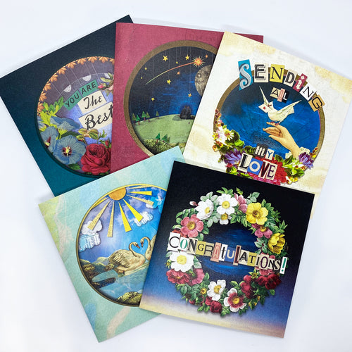 'The 'Love & Friendship' Greeting Card Bundle - x5 Designs