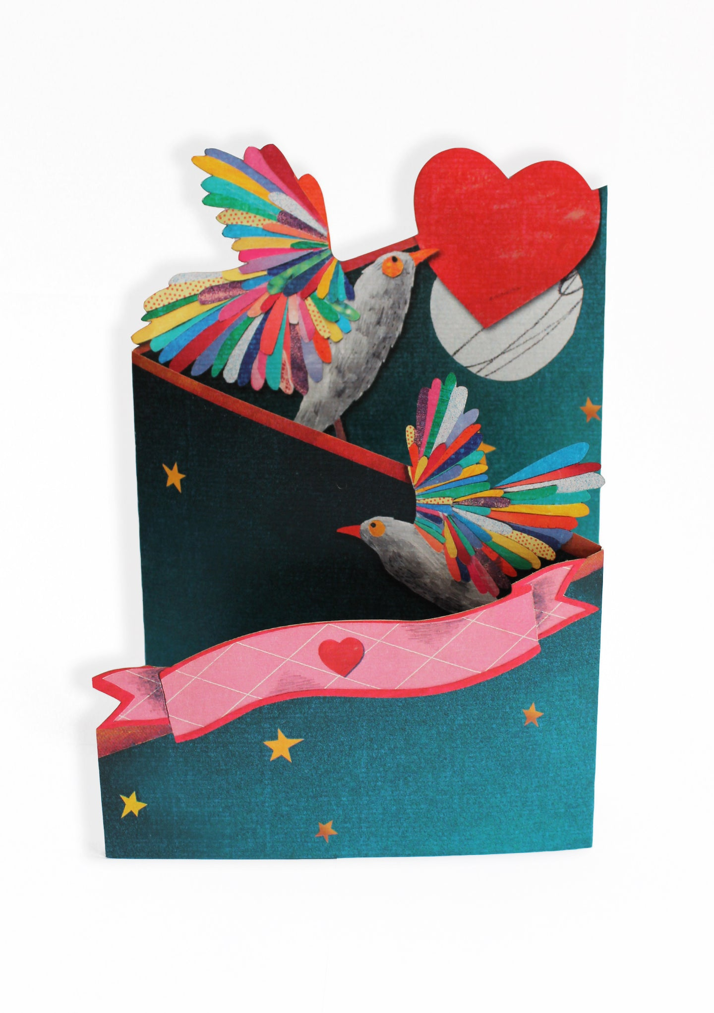'Lovebirds' Blank Greeting Card