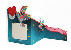 'Lovebirds' Luxury Greeting Card