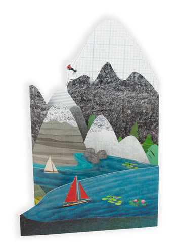 'Mountain Explorer' Blank Greeting Card
