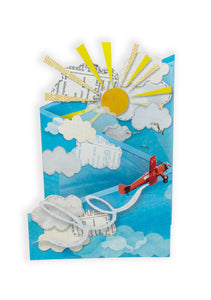 'Vintage Aeroplane' Luxury Greeting Card