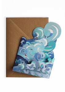 'Surfer's Paradise' Blank Greeting Card