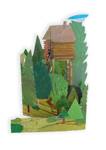 'Secret Hideout' Blank Greeting Card