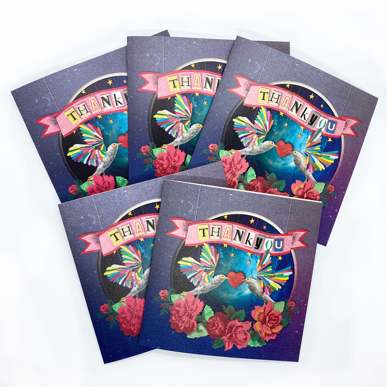 The 'Thankyou' Greeting Card Bundle - x5 Cards