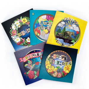 'The Celebration' Greeting Card Bundle - x5 Designs