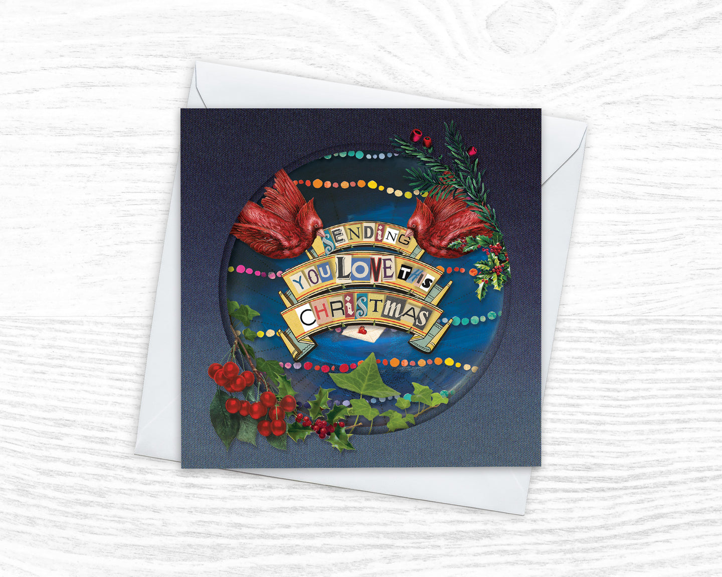'Sending You Love' - Luxury Christmas Card