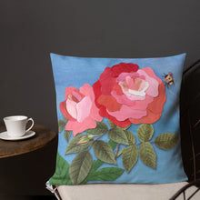 Load image into Gallery viewer, 'English Roses' Luxury Filled Cushion