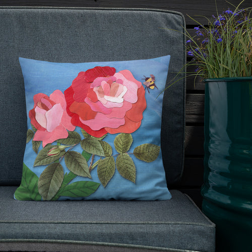'English Roses' Luxury Filled Cushion