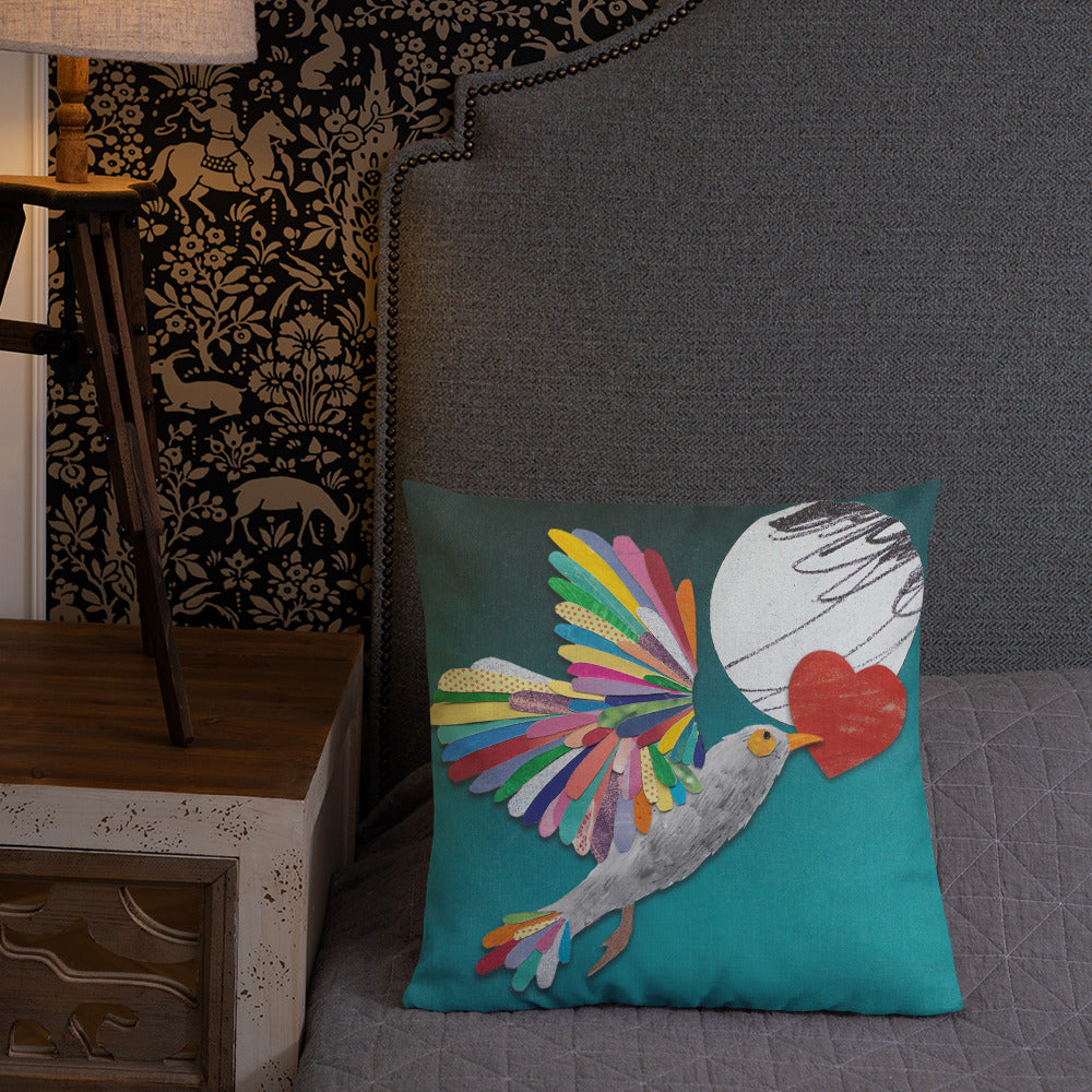 'Lovebird' Luxury Filled Cushion