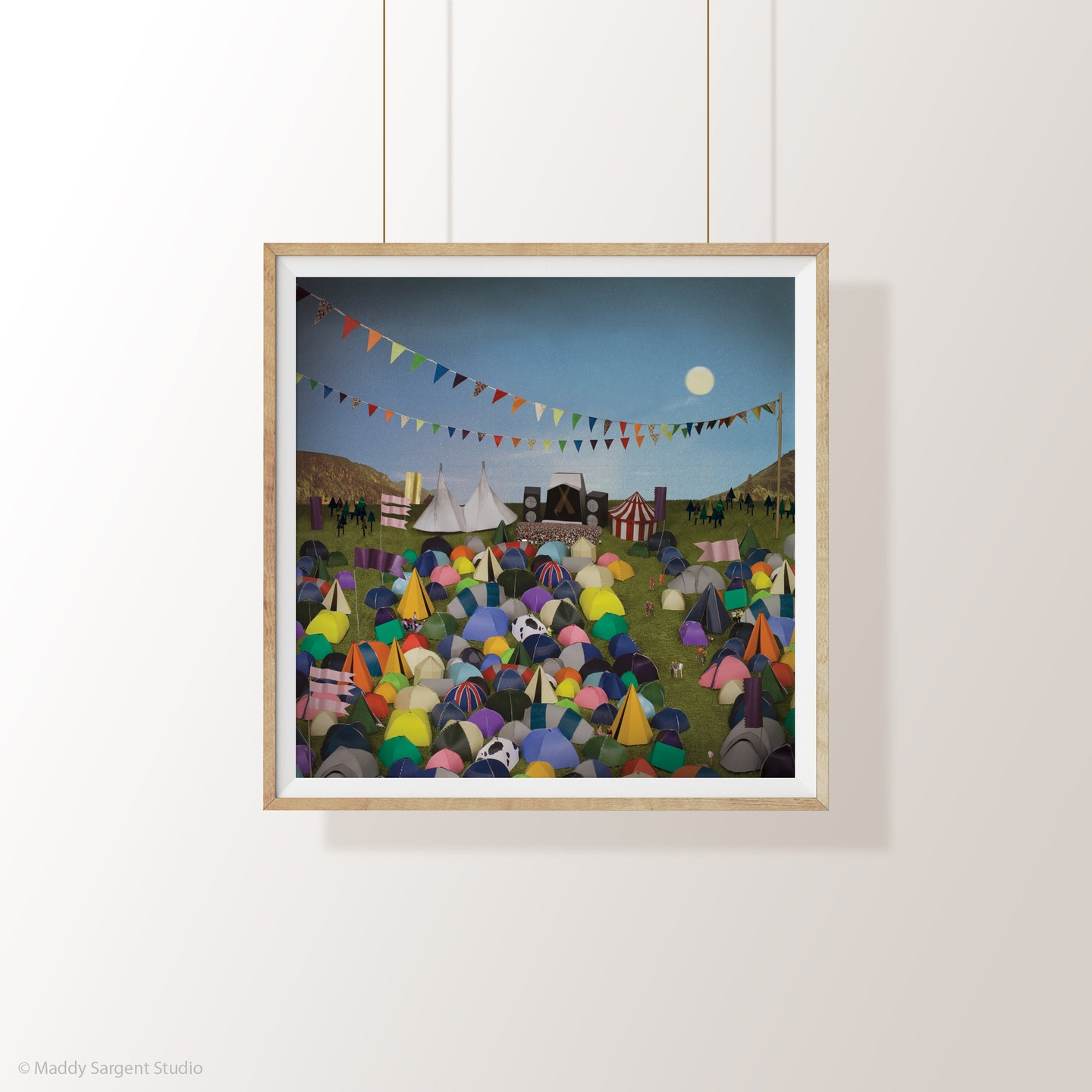 'Tent City' - Limited Edition Festival Print