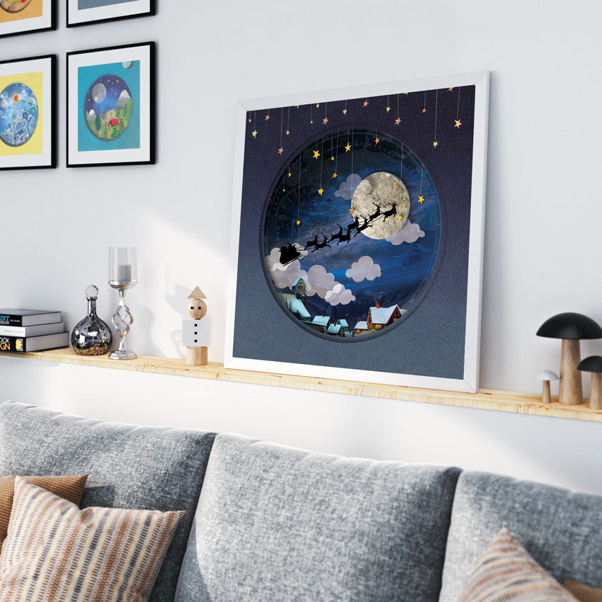 Starry Christmas Eve - Art Print