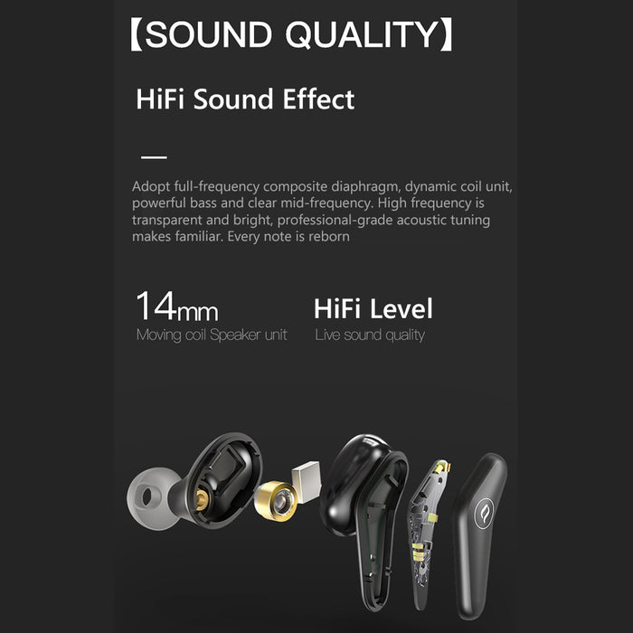 Bluetooth 5.0 Wireless Stereo Earphones Sports EarbudsTouch Control Earphones - Aolon