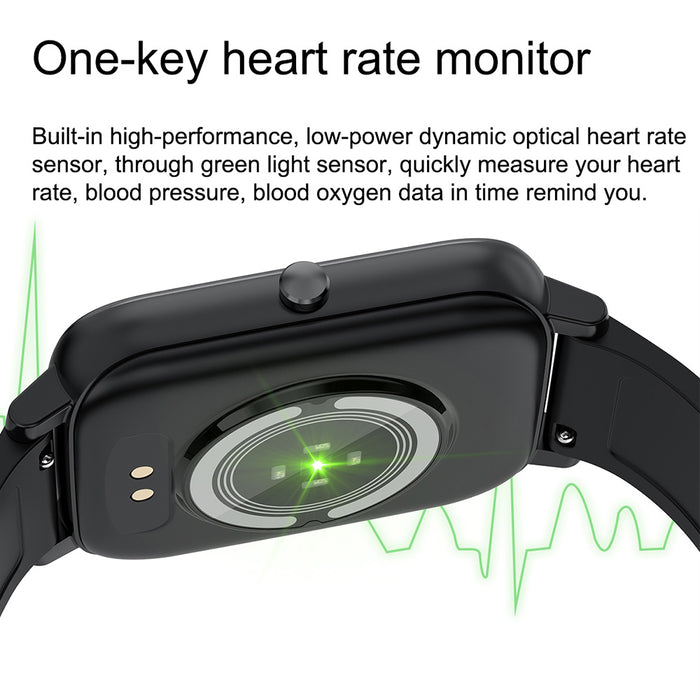 1.7 Inch Screen Custom Dial Waterproof Heart Rate Monitor Smart Watch - Aolon