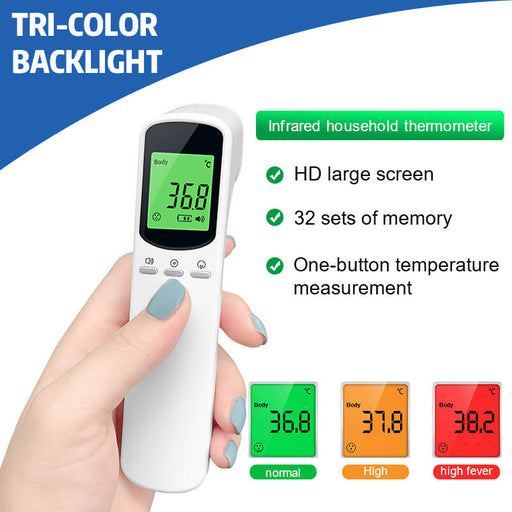 Forehead Non Contact Infrared Thermometer Temperature Digital Measure - Aolon