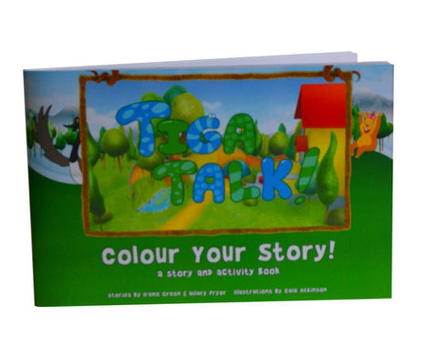 Tiga Talk! Coloring/Story Book