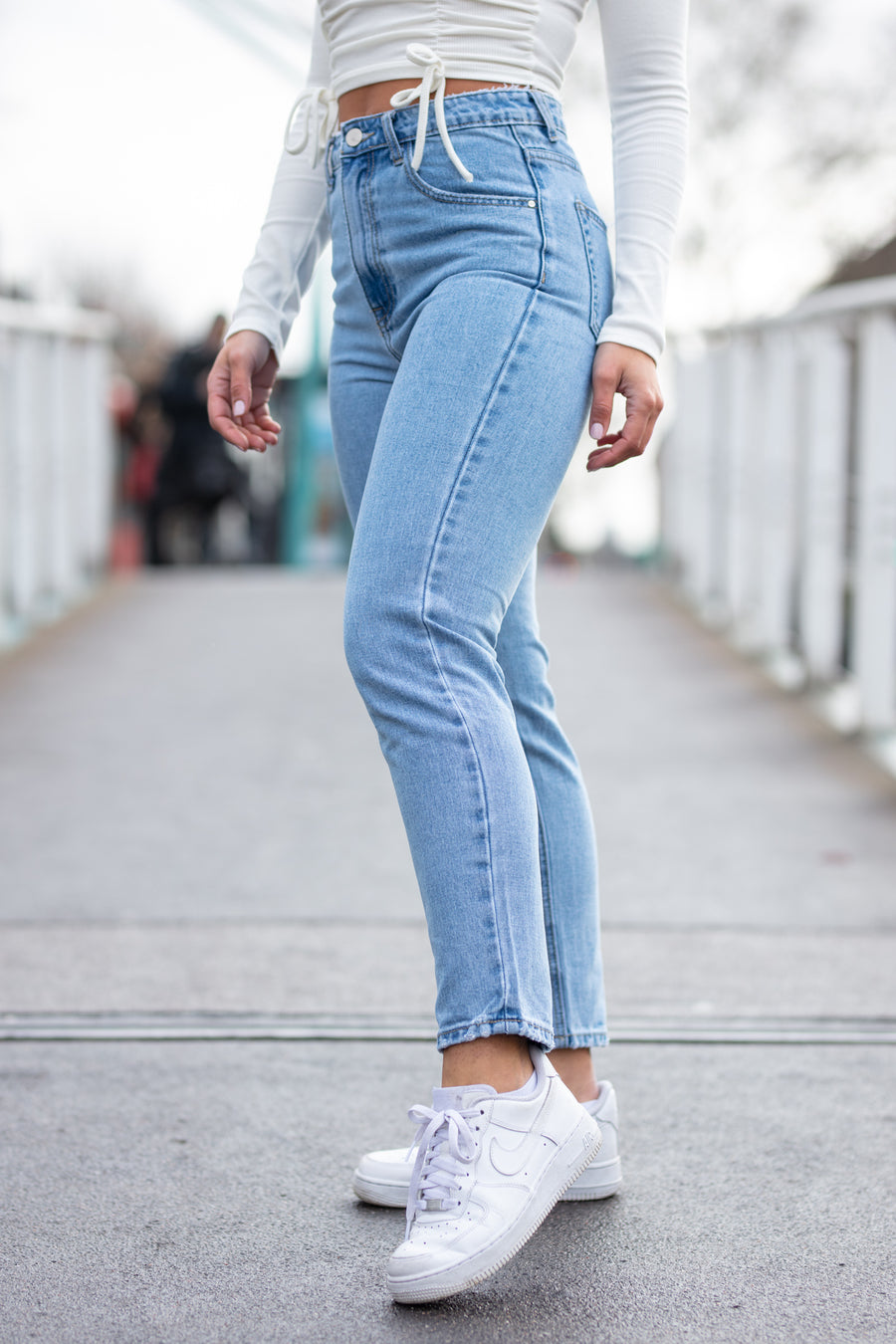 Baby Blue Mom Jeans
