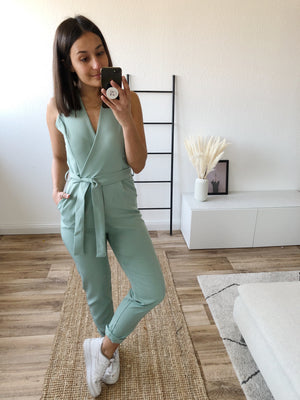 Suit Up Jumpsuit, mint