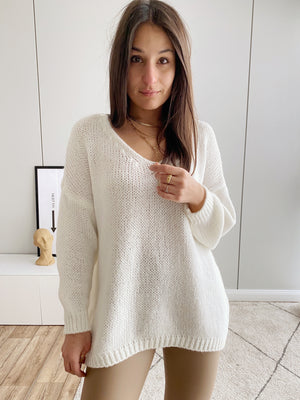 Perfect Knit Pullover, weiß