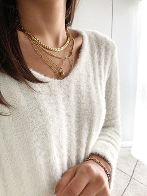 Teddy Pullover, cream